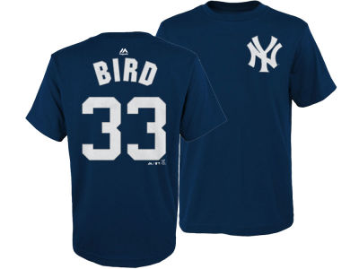 New York Yankees Greg Bird Majestic MLB Youth Official Player T-Shirt