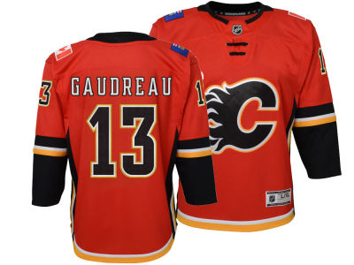 Calgary Flames Johnny Gaudreau NHL Branded NHL Kids Premier Player Jersey