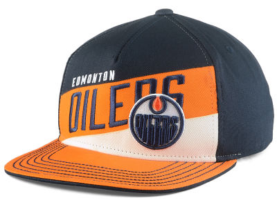 Edmonton Oilers Connor McDavid NHL Youth Stripe Structured Snapback Cap