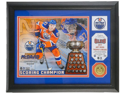 Edmonton Oilers Connor McDavid Art Ross - Single Coin Framed Plaque