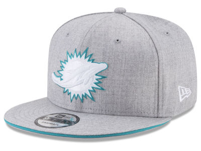 Miami Dolphins New Era NFL Heather Hot 9FIFTY Snapback Cap