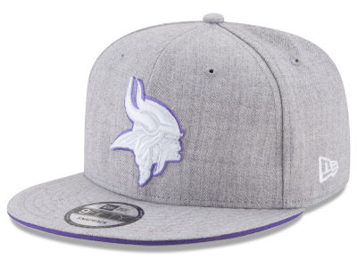 Minnesota Vikings New Era NFL Heather Hot 9FIFTY Snapback Cap