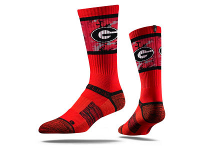 Georgia Bulldogs NCAA Strideline Crew Socks II
