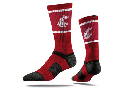 Washington State Cougars NCAA Strideline Crew Socks II