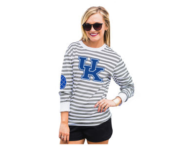 Kentucky Wildcats Gameday Couture NCAA Women's Striped Elbow Patch Long Sleeve T-Shirt