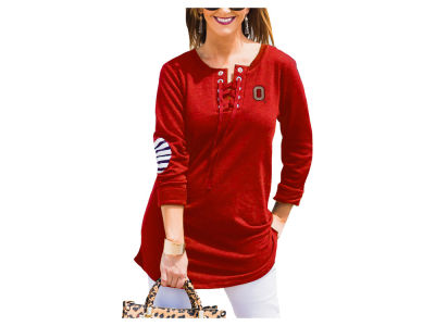 Ohio State Buckeyes Gameday Couture NCAA Women's Cozy Lace-Up Tunic