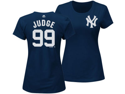New York Yankees Aaron Judge Majestic MLB Women's Crew Player T-Shirt