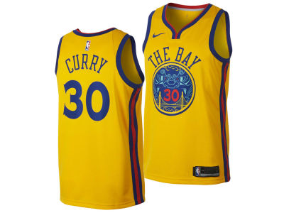 Golden State Warriors Stephen Curry Nike NBA Youth City Edition Swingman Jersey