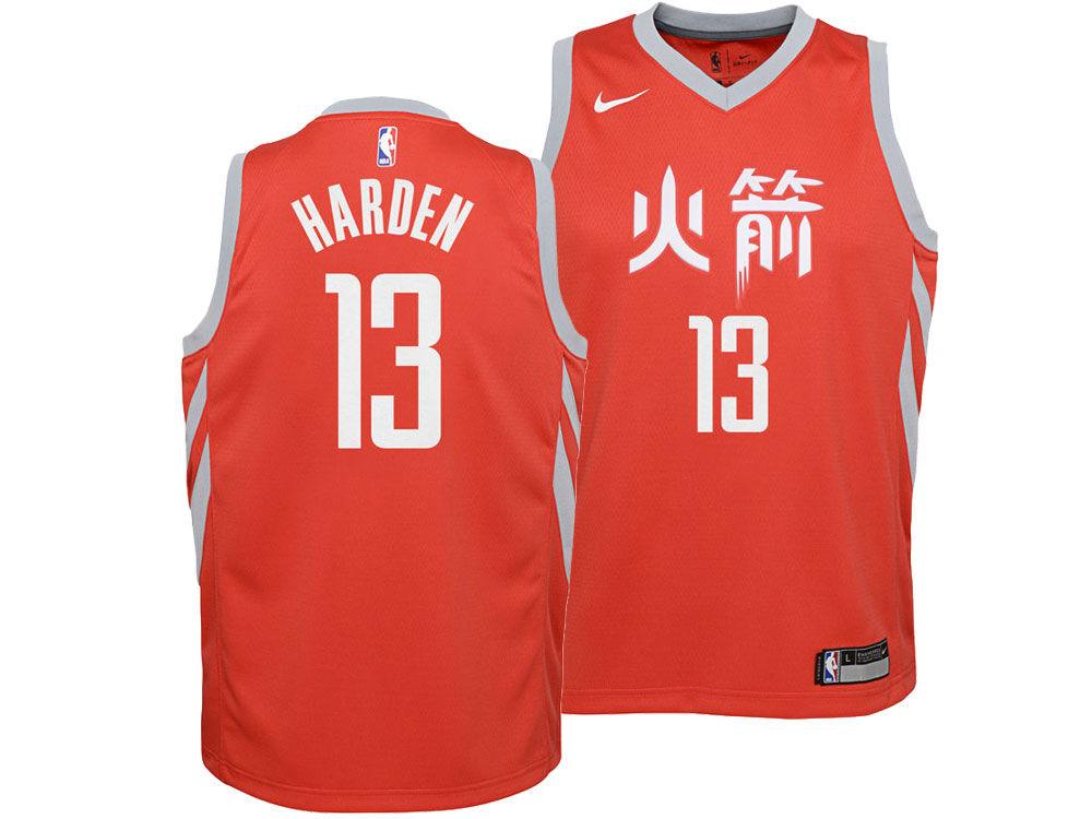 e4280a18a Houston Rockets James Harden Nike NBA Youth City Edition Swingman Jersey