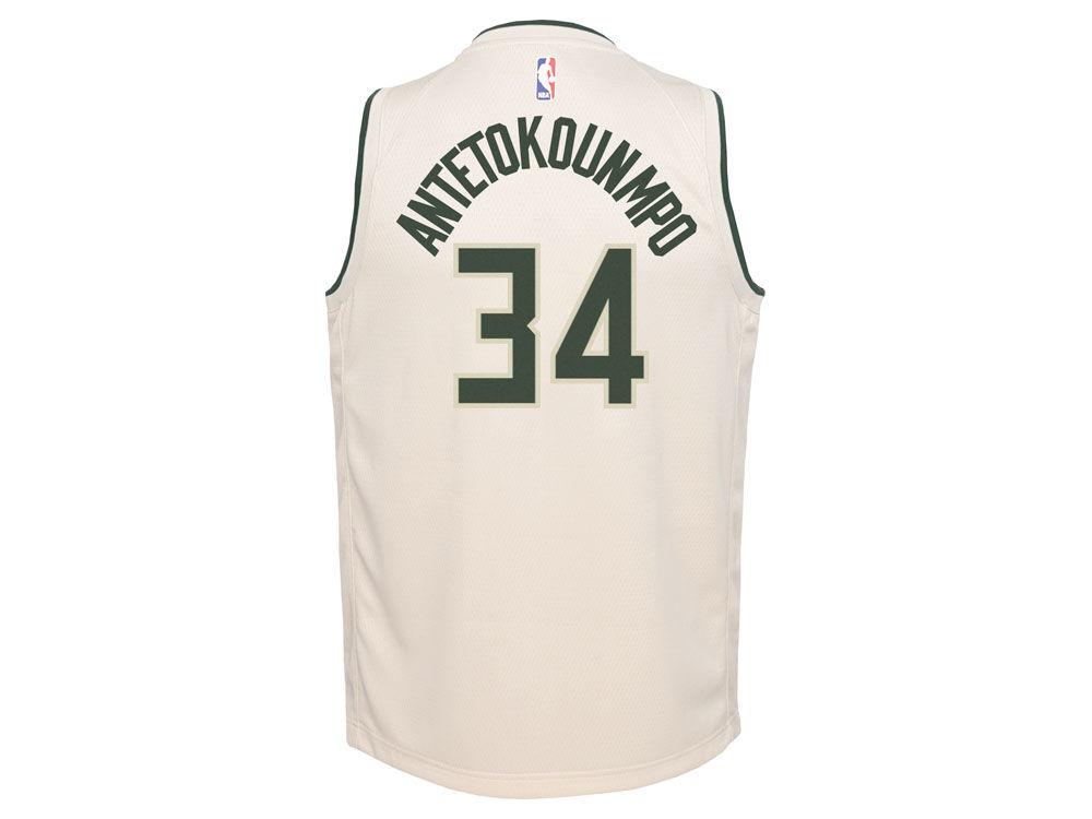 Milwaukee Bucks Giannis Antetokounmpo Nike NBA Youth City Edition Swingman  Jersey  6fd5629f5