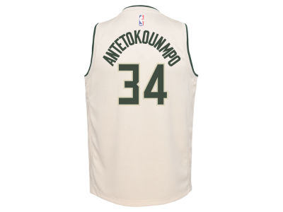 Milwaukee Bucks Giannis Antetokounmpo NBA Youth City Edition Swingman Jersey