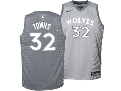Minnesota Timberwolves Karl-Anthony Towns Nike NBA Youth City Edition Swingman Jersey