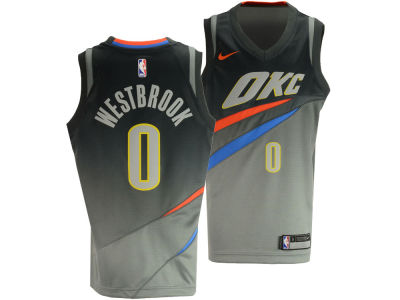 Oklahoma City Thunder Russell Westbrook NBA Youth City Edition Swingman Jersey
