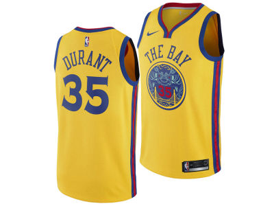 Golden State Warriors Kevin Durant Nike NBA Youth City Edition Swingman Jersey