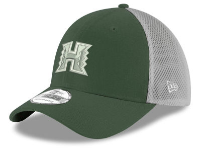 Hawaii Warriors New Era NCAA Mesh Back Gray Neo 39THIRTY Cap
