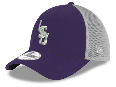 LSU Tigers New Era NCAA Mesh Back Gray Neo 39THIRTY Cap
