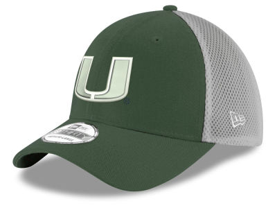 Miami Hurricanes New Era NCAA Mesh Back Gray Neo 39THIRTY Cap
