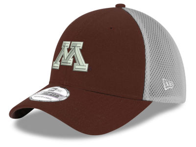 Minnesota Golden Gophers New Era NCAA Mesh Back Gray Neo 39THIRTY Cap