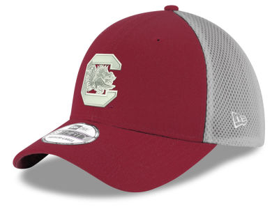 South Carolina Gamecocks New Era NCAA Mesh Back Gray Neo 39THIRTY Cap