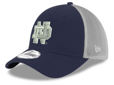 Notre Dame Fighting Irish New Era NCAA Mesh Back Gray Neo 39THIRTY Cap