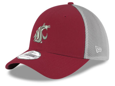 Washington State Cougars New Era NCAA Mesh Back Gray Neo 39THIRTY Cap