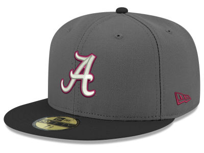 Alabama Crimson Tide New Era NCAA Gray and Black 59FIFTY Cap