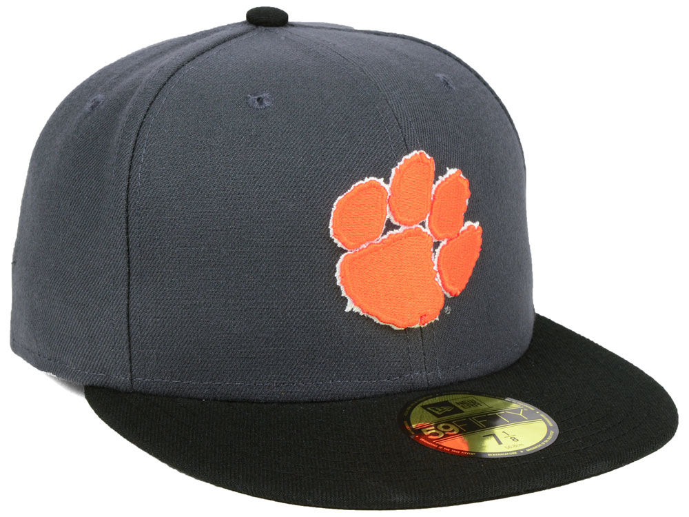 release date: 6e429 24d79 ... canada superior quality clemson tigers new era ncaa gray and black 59fifty  cap 7cfa3 8aeed edc02