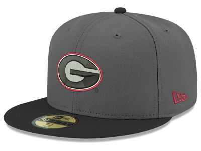 Georgia Bulldogs New Era NCAA Gray and Black 59FIFTY Cap