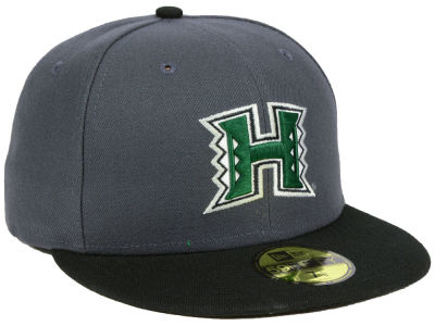 Hawaii Warriors New Era NCAA Gray and Black 59FIFTY Cap