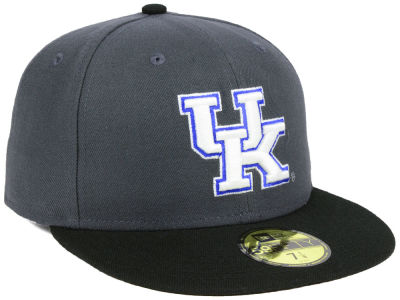 Kentucky Wildcats New Era NCAA Gray and Black 59FIFTY Cap