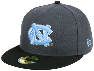 North Carolina Tar Heels New Era NCAA Gray and Black 59FIFTY Cap
