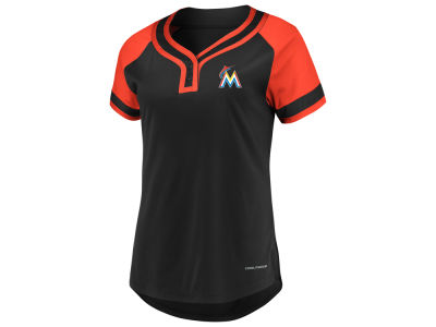 Miami Marlins Majestic MLB Women's League Diva T-Shirt