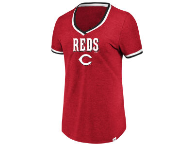 Cincinnati Reds Majestic MLB Women's Driven by Results T-Shirt