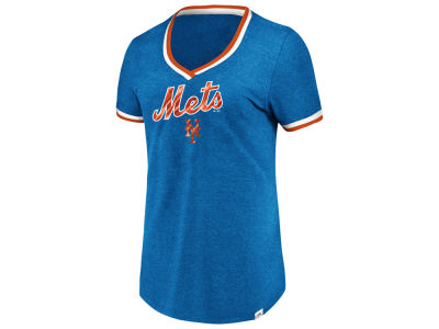 New York Mets Majestic MLB Women's Driven by Results T-Shirt