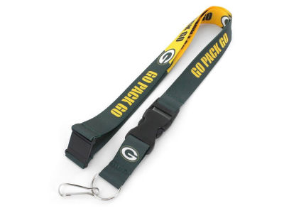 Green Bay Packers Aminco Slogan Lanyard
