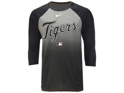 Detroit Tigers Nike MLB Men's 3/4 Raglan Cross Dye T-Shirt