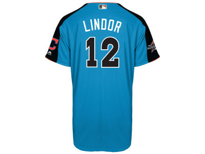 Cleveland Indians Francisco Lindor MLB 2017 Men's All Star Game Home Run Derby Jersey