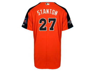 Miami Marlins Giancarlo Stanton Majestic MLB 2017 Men's All Star Game Home Run Derby Jersey
