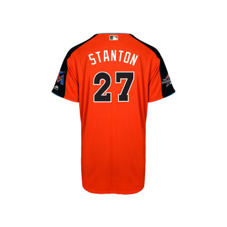 Miami Marlins Giancarlo Stanton MLB 2017 Men's All Star Game Home Run Derby Jersey