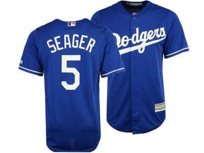 Los Angeles Dodgers Corey Seager Majestic MLB Men s Player Replica Cool  Base Jersey 7afefc0b04a