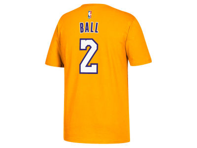 Los Angeles Lakers Lonzo Ball adidas NBA Men's Player T-Shirt
