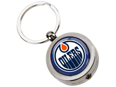 Edmonton Oilers NHL Hockey Puck Flashlight Key Ring