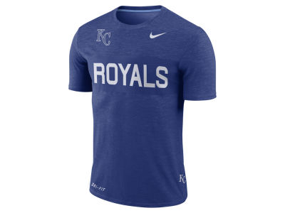 Kansas City Royals Nike MLB Men's Dri-Fit Slub Stripe T-Shirt