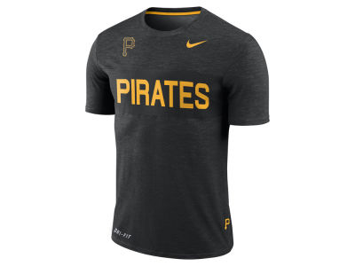 Pittsburgh Pirates Nike MLB Men's Dri-Fit Slub Stripe T-Shirt