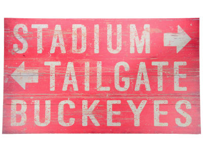 Ohio State Buckeyes 14x24 Plank Wood Sign