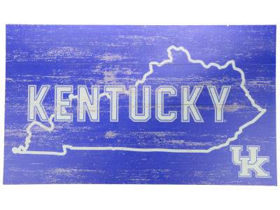 Kentucky Wildcats 14x24 Plank Wood Sign
