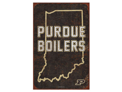Purdue Boilermakers State Tin Sign