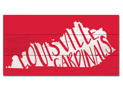 Louisville Cardinals Plank Wood Sign