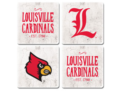 Louisville Cardinals 4 Inch by 4 Inch Coaster Set