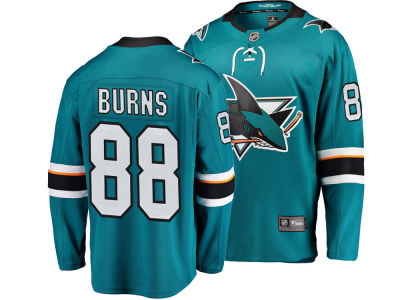 San Jose Sharks Brent Burns NHL Branded NHL Men's Breakaway Player Jersey